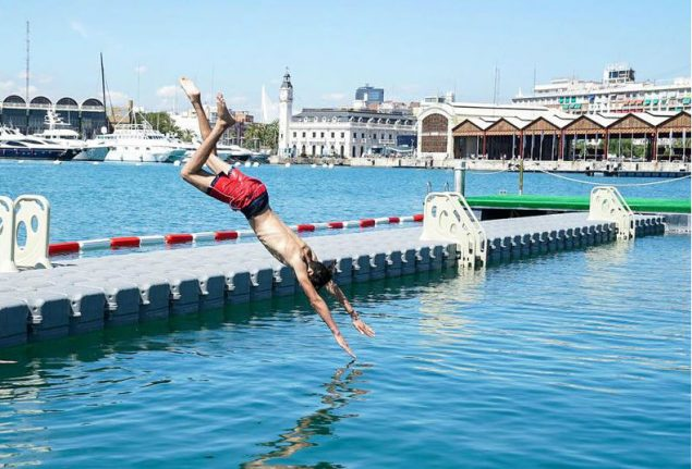 Valencia opens first ocean pool (where you can watch Jaws while floating on a lilo)
