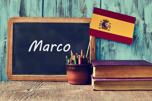 Spanish word of the day: 'Marco'