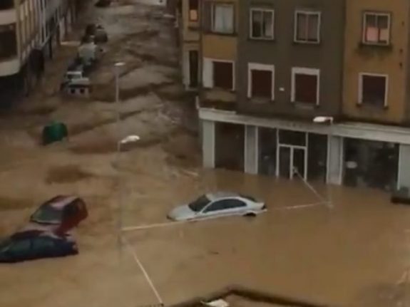 In Images: Torrential flooding in Spain's Navarre leaves one dead and towns under water