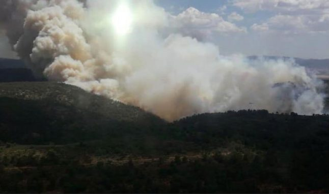 Costa Blanca forest fire: Homes evacuated and roads cut as firefighters battle blaze