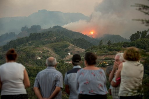 Canary Islands: Eight thousand evacuated as wildfire rages across Gran Canaria