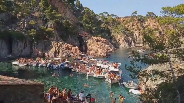 How boozy boat parties are threatening Costa Brava's picturesque coves