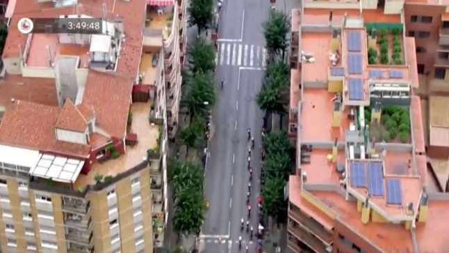 Rooftop weed plantation revealed during Spain's La Vuelta cycle race coverage