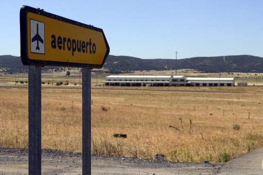 'Ghost' Spanish airport welcomes its first plane…an empty one