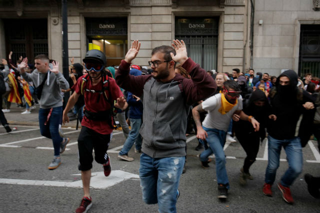 Nearly 200 injured in Catalonia protests on Saturday: emergency services