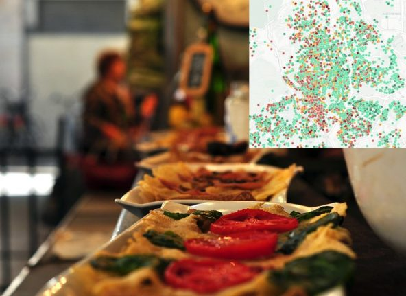 MAP: The unsanitary Madrid restaurants and bars you shouldn't eat at