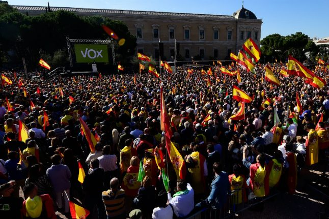 Spain's far-right Vox rallies thousands in central Madrid