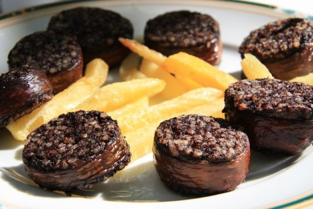 Morcilla de Burgos. If you can get over what you're eating, this is a delicious autumn dish. Photo: Javier Lastras