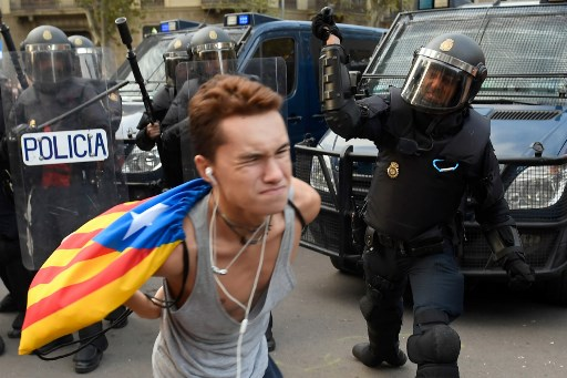 VIDEO: Rights group blast Barcelona police for 'unjustified' violence