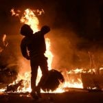 Violent clashes break out in Barcelona on Friday night