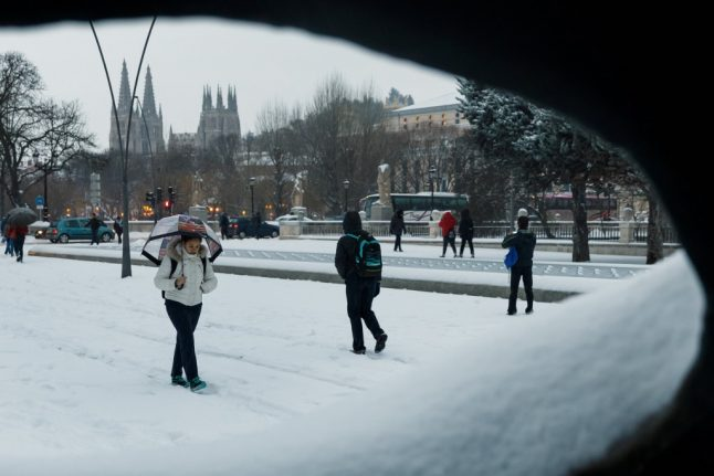 Spain's weekend weather report: More snow and rain in store
