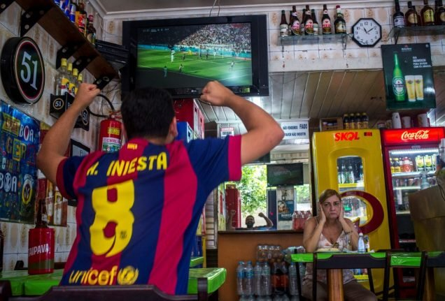 Why watching football at your local bar in Spain could soon end