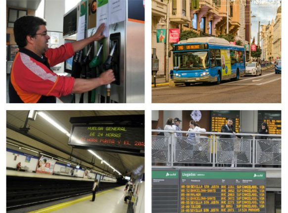 Buses, trains and roads: How the strikes across Spain this month will affect you