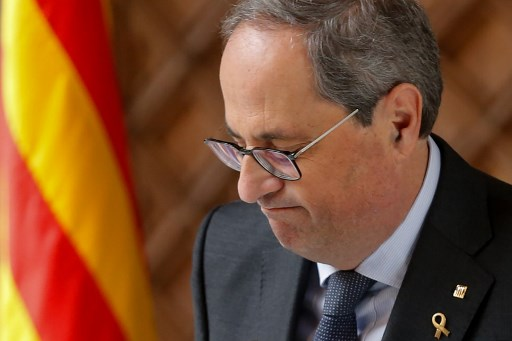 Catalan president Quim Torra banned from holding public office over 'disobedience'