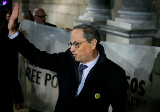 Spain's electoral board bans Catalan president from holding post