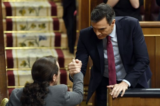 Five far-left ministers to serve in Spain's new coalition govt