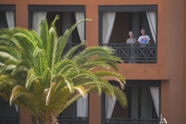 Police at the door and staff in masks: Welcome to life under lockdown at Tenerife's 'coronavirus hotel'