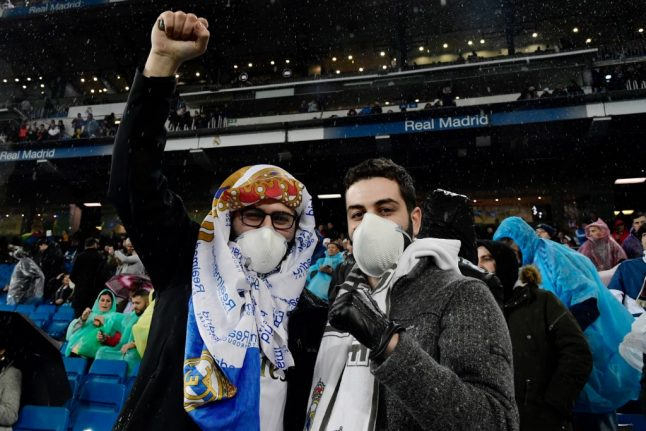 Spain imposes ban on fans at sports fixture over coronavirus fears