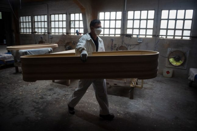 Coronavirus brings boom for coffin-makers in small Spanish town