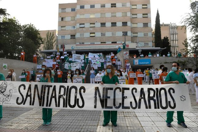 Why Spanish health workers are staging protests outside hospitals