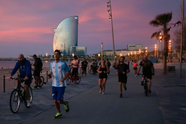IN IMAGES: Spaniards flock outdoors for walks and sport after 48-day lockdown