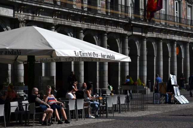 Bar terraces in Spain will be allowed 50 percent capacity from May 11th