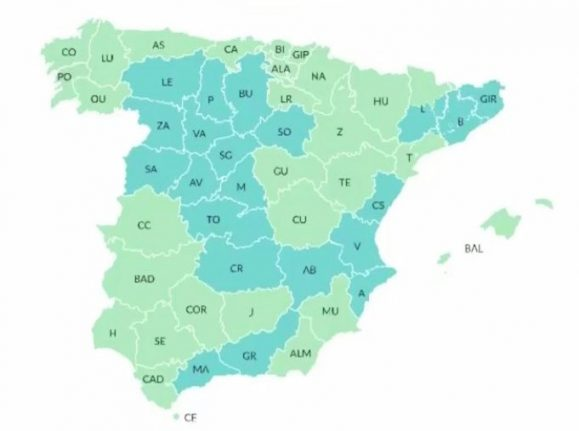 MAP: These are Spain's provinces advancing to Phase 1 and Phase 2