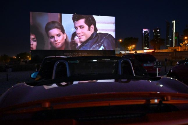 New normal: Madrid drive-in cinema draws crowds with safe entertainment