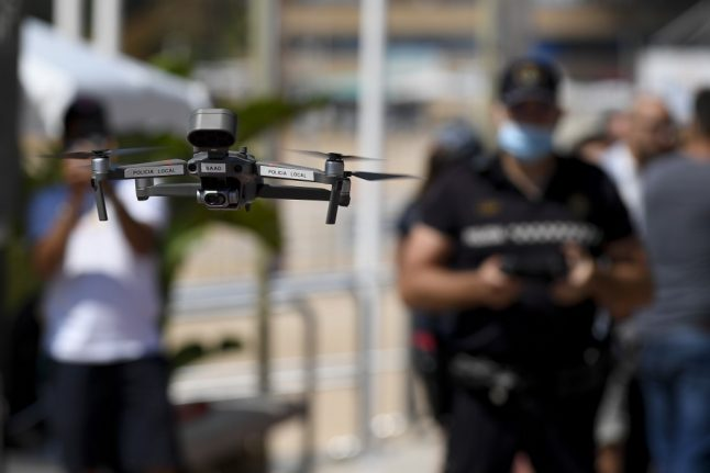 Drones and CCTV to keep close eye on beachgoers in Spain this summer