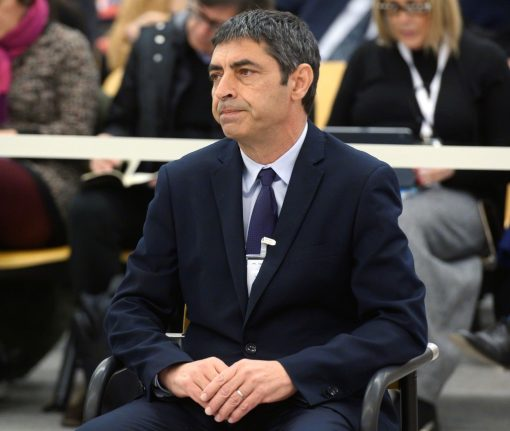 Charges against former Catalan police chief reduced to sedition