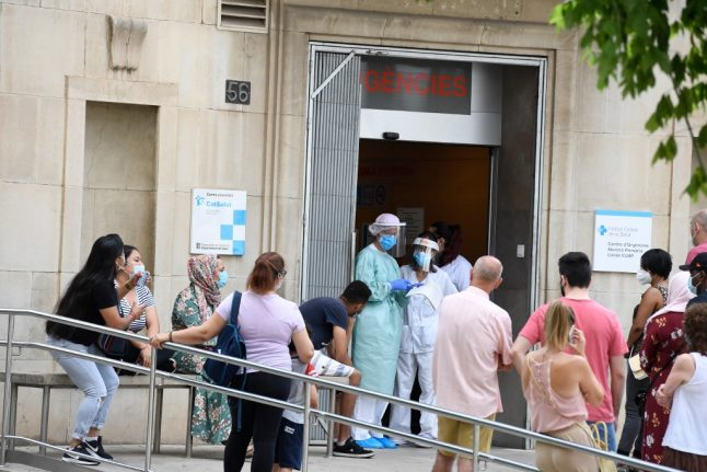 Spain's Covid-19 infection rate triples in just over two weeks