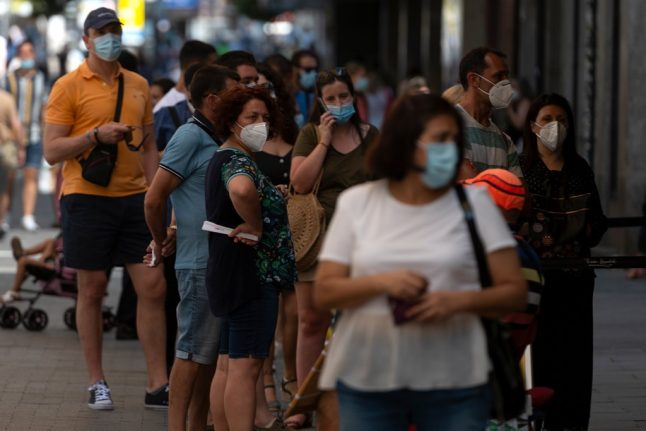 Spain records highest number of daily Covid-19 cases since May 1st