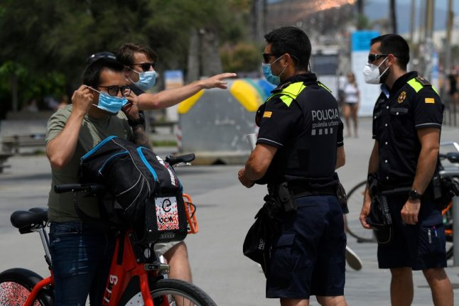 Where in Spain are face masks compulsory in all public spaces?