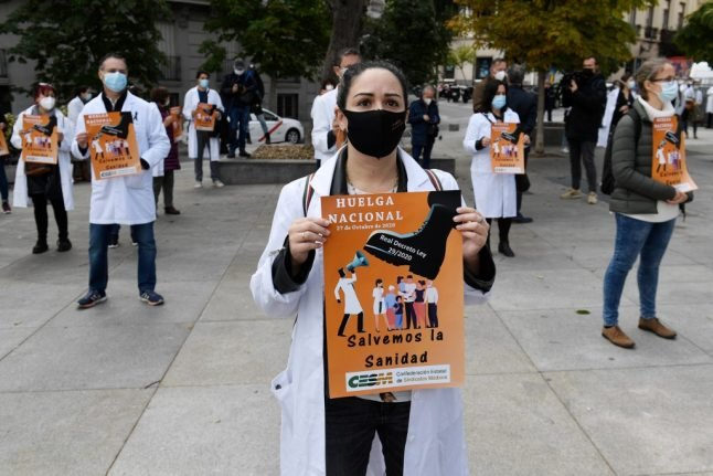 Why Spanish doctors are staging walkouts in the grip of a pandemic