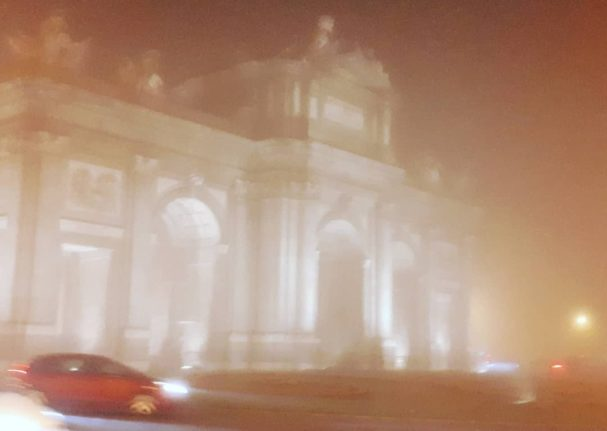 IN PICS: Madrid shrouded in fog as rare pea-souper descends on Spain's capital