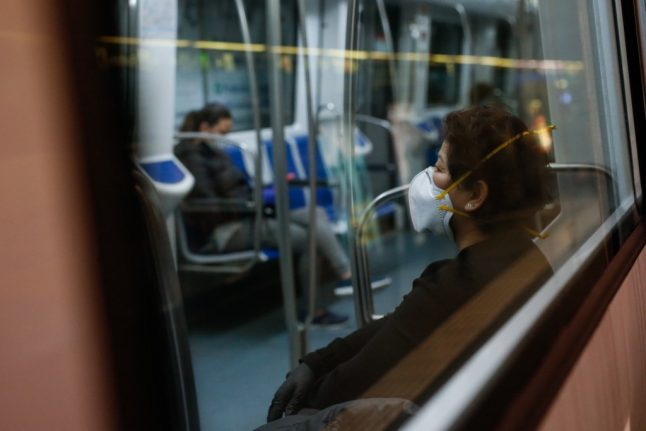 'Don't speak': Catalonia asks public transport users in bid to stop Covid infections