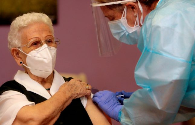 96-year-old becomes first in Spain to be vaccinated for Covid-19