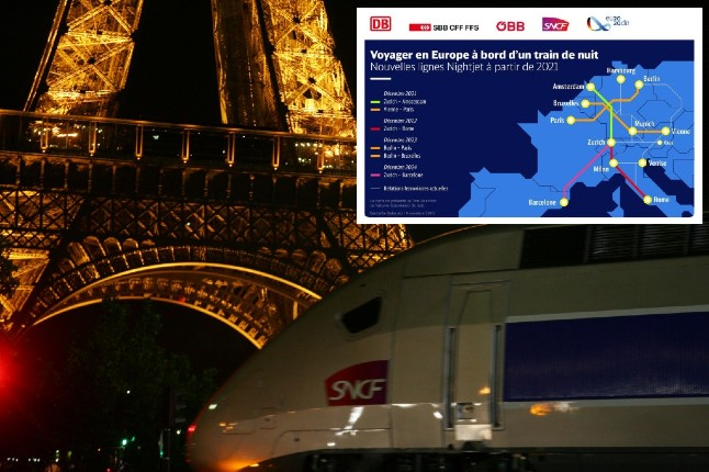 MAP: Return of night trains across Europe comes a step closer