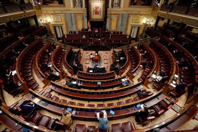 At last! Spain passes budget in boost for minority government