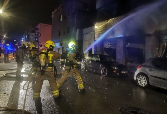 Three dead in blaze at Spanish warehouse squat housing migrants