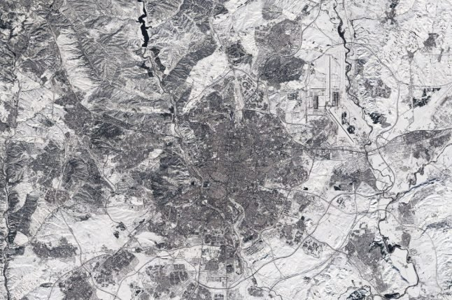IN PICS: Spectacular images of snow-covered Spain from the air