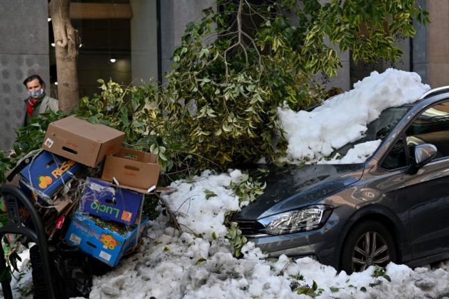 Spain declares 'disaster zones' in aftermath of Storm Filomena