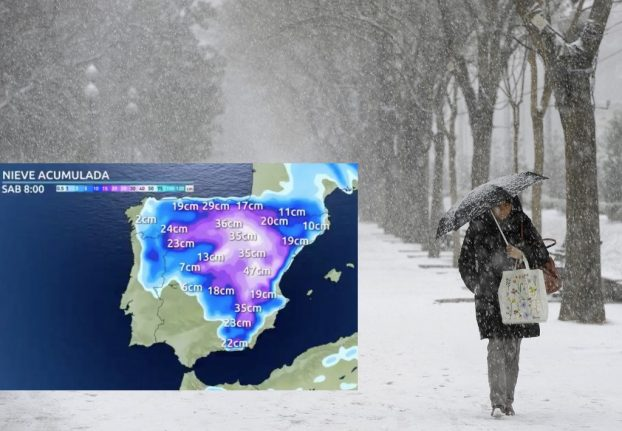 Spain set for big freeze: sub-zero temperatures and 'heaviest snowfall in years'