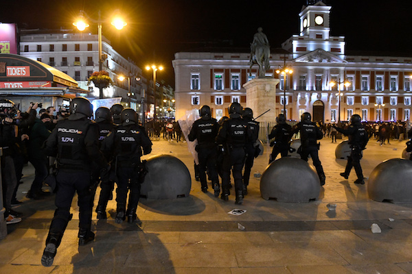 Protesters clash with Spanish police at rallies over rapper's arrest