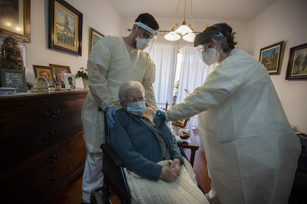 Spain has vaccinated 'almost all' care home residents against Covid