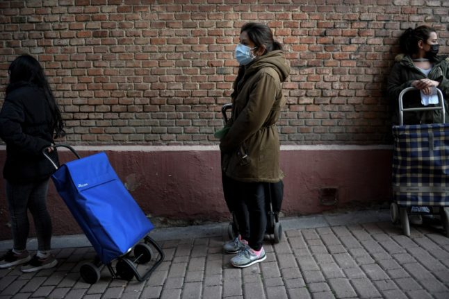 Queuing for food handouts: How the pandemic has left thousands more going hungry in Spain