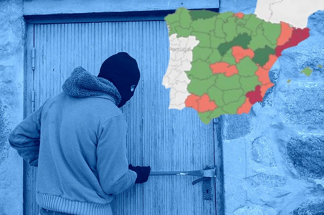 The places in Spain where burglaries have gone up during the pandemic