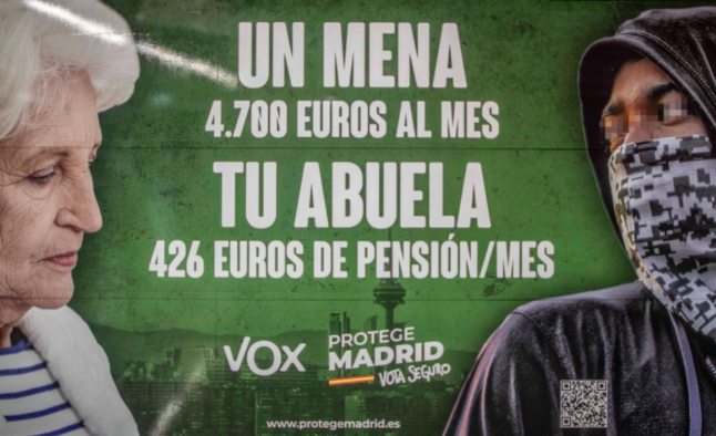 How Spain's far-right party is scapegoating unaccompanied minors in a bogus campaign poster