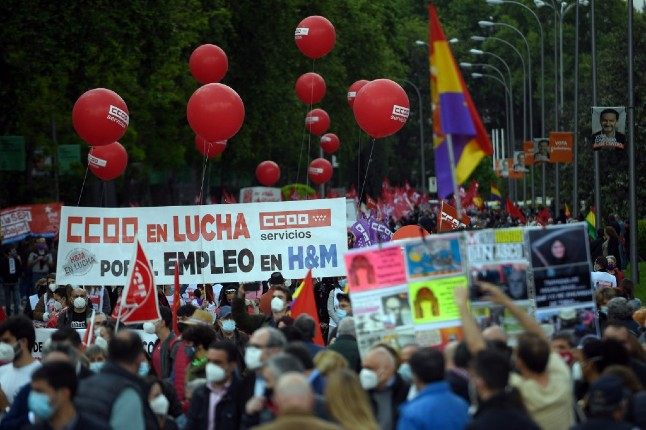 IN PICS: Thousands join May Day rallies across Spain