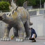 Missing man found dead trapped inside dinosaur statue in Spain